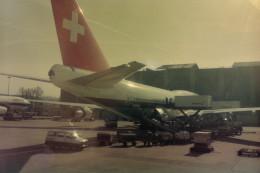 ヒロリンさんが、ジュネーヴ・コアントラン国際空港で撮影したスイス航空 747-357の航空フォト(飛行機 写真・画像)