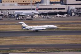 けいとパパさんが、羽田空港で撮影したベルジャヤ・エア BD-700-1A11 Global 5000の航空フォト(飛行機 写真・画像)