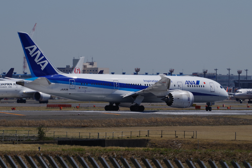 yabyanさんの全日空 Boeing 787-8 Dreamliner (JA813A) 航空フォト