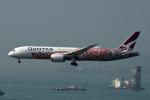 kansaigroundさんが、香港国際空港で撮影したカンタス航空 787-9の航空フォト(写真)