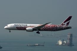 kansaigroundさんが、香港国際空港で撮影したカンタス航空 787-9の航空フォト(飛行機 写真・画像)