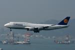 kansaigroundさんが、香港国際空港で撮影したルフトハンザドイツ航空 747-830の航空フォト(写真)
