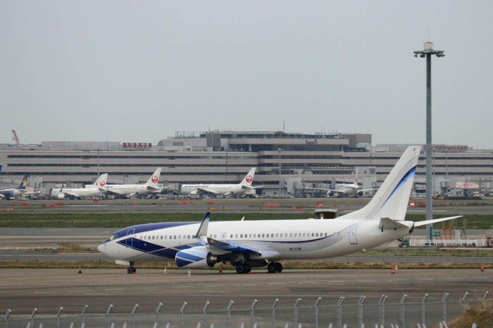 ハム太郎。さんのEIEイーグル Boeing 737-800 (N737M) 航空フォト
