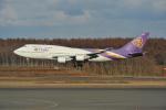 デデゴンさんが、新千歳空港で撮影したタイ国際航空 747-4D7の航空フォト(写真)