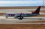 ハピネスさんが、関西国際空港で撮影したティーウェイ航空 737-8Q8の航空フォト(飛行機 写真・画像)