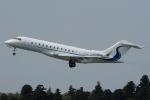 ウッディーさんが、成田国際空港で撮影したウィルミントン・トラスト・カンパニー BD-700-1A10 Global 6000の航空フォト(写真)