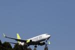 ひめままさんが、鹿児島空港で撮影したソラシド エア 737-86Nの航空フォト(写真)