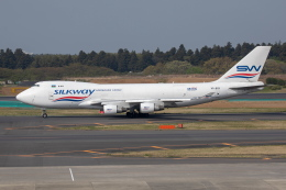 がんびの木さんが、成田国際空港で撮影したシルクウェイ・ウェスト・エアラインズ 747-4H6F/SCDの航空フォト(写真)