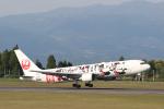 ツンさんが、鹿児島空港で撮影した日本航空 767-346/ERの航空フォト(写真)