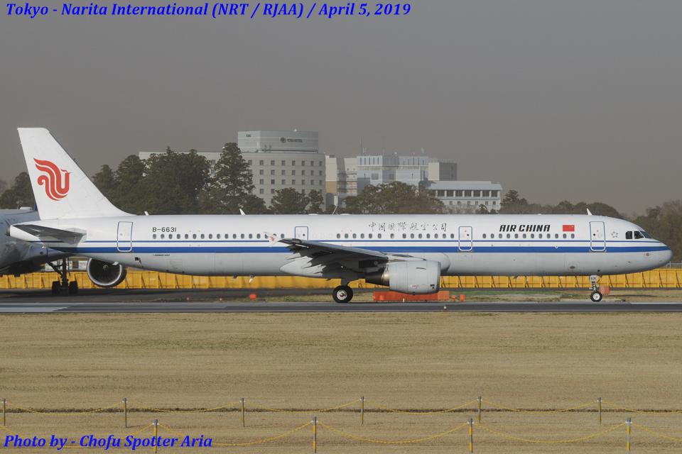 Chofu Spotter Ariaさんの中国国際航空 Airbus A321 (B-6631) 航空フォト