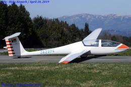 Chofu Spotter Ariaさんが、飛騨エアパークで撮影した日本個人所有 G103A Twin II Acroの航空フォト(飛行機 写真・画像)