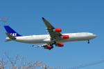 yabyanさんが、成田国際空港で撮影したスカンジナビア航空 A340-313Xの航空フォト(写真)