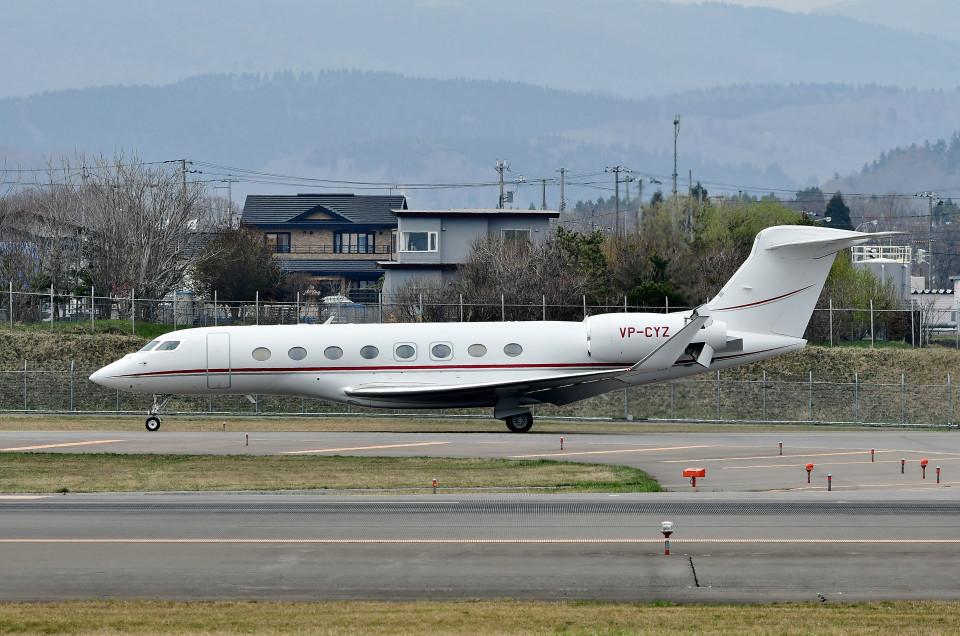 DojalanaさんのTAG エイビエーション・アジア Gulfstream Aerospace G650 (G-VI) (VP-CYZ) 航空フォト
