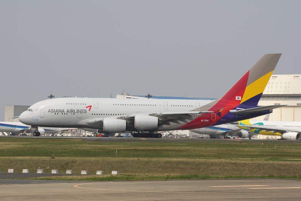 hiko_chunenさんのアシアナ航空 Airbus A380 (HL7641) 航空フォト
