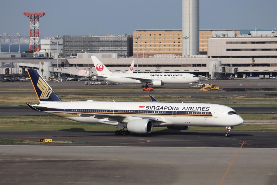 KAZFLYERさんのシンガポール航空 Airbus A350-900 (9V-SMM) 航空フォト