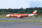 delawakaさんが、成田国際空港で撮影したインドネシア・エアアジア・エックス A330-343Xの航空フォト(飛行機 写真・画像)