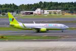 delawakaさんが、成田国際空港で撮影したジンエアー 737-8Q8の航空フォト(飛行機 写真・画像)