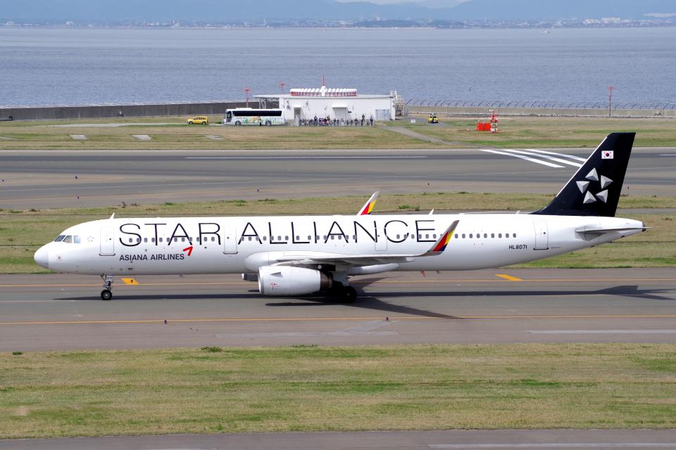 yabyanさんのアシアナ航空 Airbus A321 (HL8071) 航空フォト