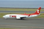 yabyanさんが、中部国際空港で撮影したティーウェイ航空 737-800の航空フォト(飛行機 写真・画像)