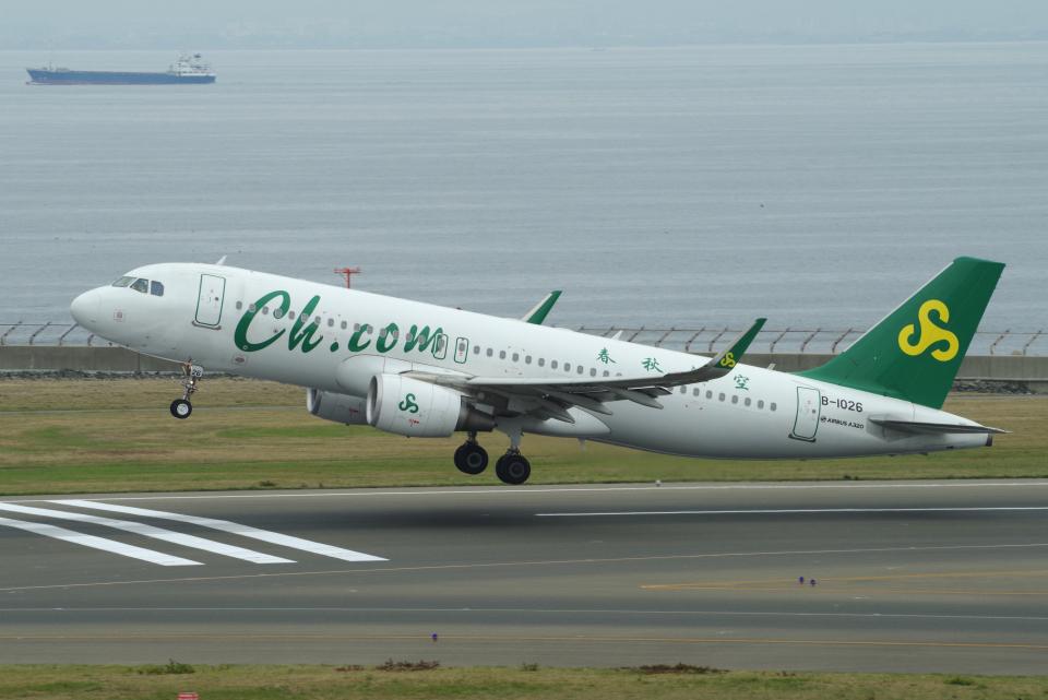 yabyanさんの春秋航空 Airbus A320 (B-1026) 航空フォト