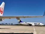 toshiokiさんが、新千歳空港で撮影したスカイマーク 737-81Dの航空フォト(飛行機 写真・画像)