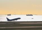 ふじいあきらさんが、羽田空港で撮影した大韓航空 737-8GQの航空フォト(飛行機 写真・画像)