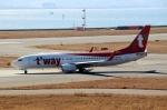 ハピネスさんが、関西国際空港で撮影したティーウェイ航空 737-8ASの航空フォト(飛行機 写真・画像)