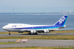 ryu330さんが、羽田空港で撮影した全日空 747-481(D)の航空フォト(写真)