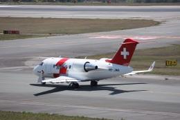 MIRAGE E.Rさんが、広島空港で撮影したREGA スイスエア-アンビュランス CL-600-2B16 Challenger 650の航空フォト(飛行機 写真・画像)