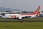 たっしーさんが、熊本空港で撮影したティーウェイ航空 737-8Q8の航空フォト(写真)