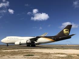 gratiii738さんが、ダニエル・K・イノウエ国際空港で撮影したUPS航空 747-4R7F/SCDの航空フォト(飛行機 写真・画像)