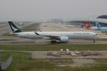 uhfxさんが、関西国際空港で撮影したキャセイパシフィック航空 A350-1041の航空フォト(飛行機 写真・画像)