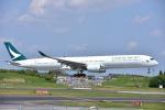 ユウイチ22さんが、成田国際空港で撮影したキャセイパシフィック航空 A350-1041の航空フォト(写真)