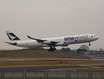 アイスコーヒーさんが、成田国際空港で撮影したキャセイパシフィック航空 A340-313Xの航空フォト(飛行機 写真・画像)