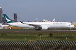 kinsanさんが、成田国際空港で撮影したキャセイパシフィック航空 A350-1041の航空フォト(写真)