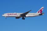 PASSENGERさんが、ロサンゼルス国際空港で撮影したカタール航空 777-2DZ/LRの航空フォト(写真)