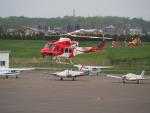 ここはどこ?さんが、札幌飛行場で撮影した札幌市消防局消防航空隊 412EPの航空フォト(写真)