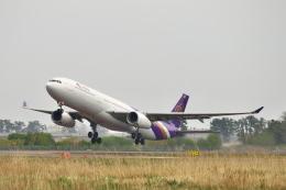ひろぽ~んさんが、仙台空港で撮影したタイ国際航空 A330-343Xの航空フォト(飛行機 写真・画像)
