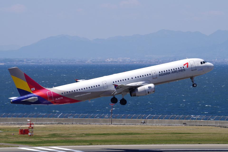 yabyanさんのアシアナ航空 Airbus A321 (HL8279) 航空フォト