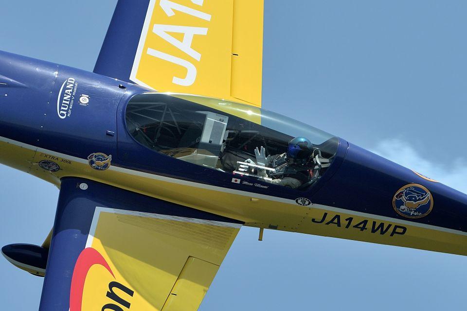 うめやしきさんのWPコンペティション・アエロバティック・チーム Extra EA-300 (JA14WP) 航空フォト