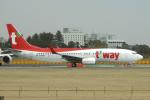 yabyanさんが、成田国際空港で撮影したティーウェイ航空 737-8Q8の航空フォト(飛行機 写真・画像)