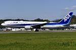 冷やし中華始めましたさんが、松山空港で撮影した全日空 767-381/ERの航空フォト(写真)