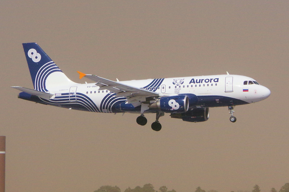 yabyanさんのオーロラ Airbus A319 (VQ-BBD) 航空フォト