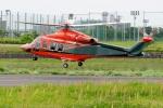 あきらっすさんが、調布飛行場で撮影した三井物産エアロスペース AW139の航空フォト(写真)
