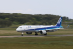 くろネコさんが、庄内空港で撮影した全日空 A321-272Nの航空フォト(写真)