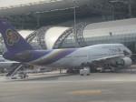 ランチパッドさんが、スワンナプーム国際空港で撮影したタイ国際航空 747-4D7の航空フォト(写真)