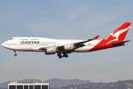 masa707さんが、ロサンゼルス国際空港で撮影したカンタス航空 747-438の航空フォト(写真)