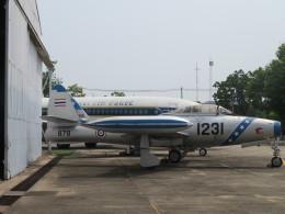 ランチパッドさんが、ドンムアン空港で撮影したタイ王国空軍 F-84G Thunderjetの航空フォト(飛行機 写真・画像)