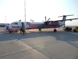 atiiさんが、ウラジオストク空港で撮影したオーロラ DHC-8-402Q Dash 8の航空フォト(飛行機 写真・画像)