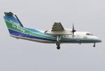 あしゅーさんが、福岡空港で撮影したオリエンタルエアブリッジ DHC-8-201Q Dash 8の航空フォト(飛行機 写真・画像)